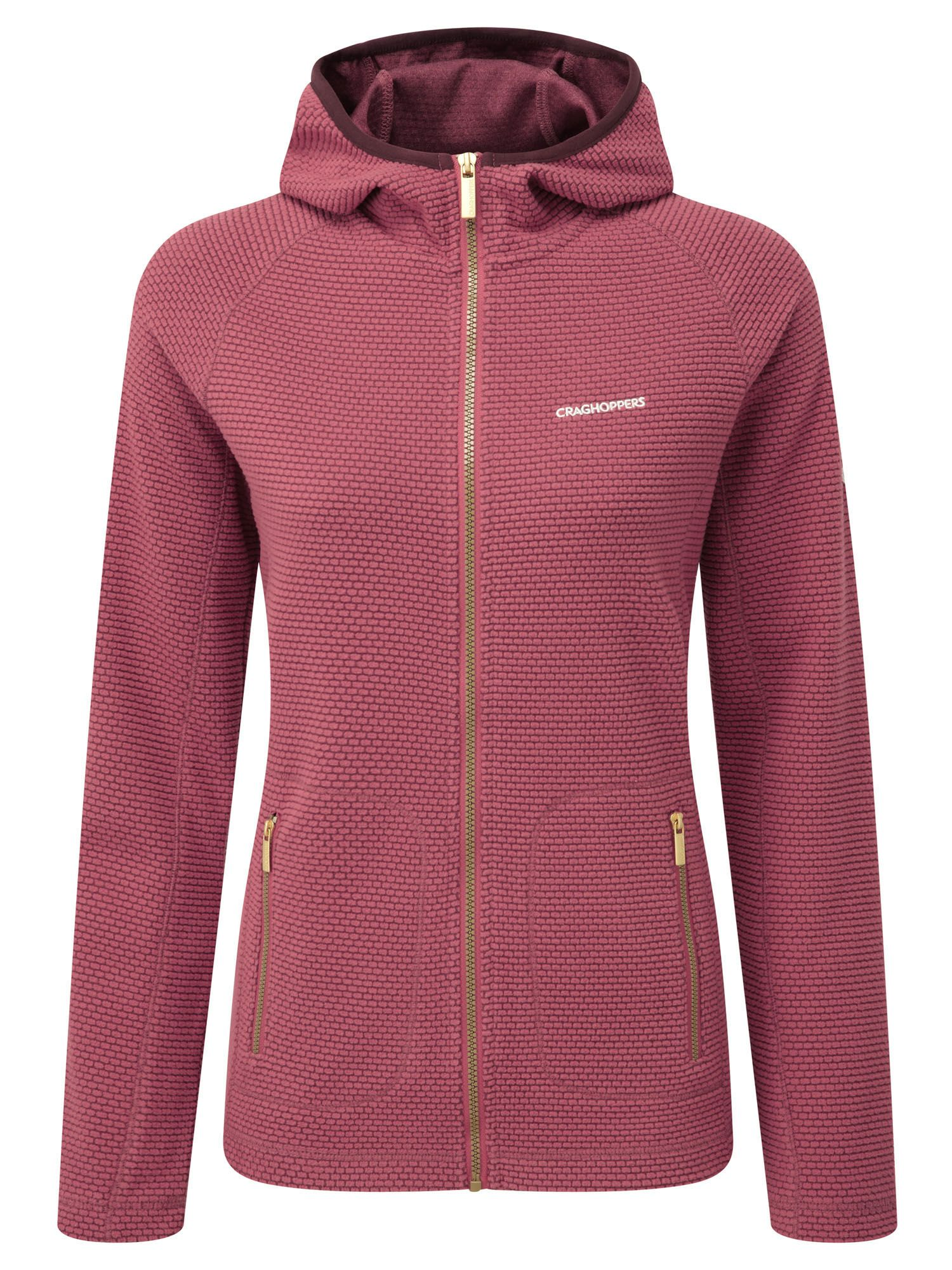 Craghoppers Hazelton Hooded Fleece Jacket, Pink