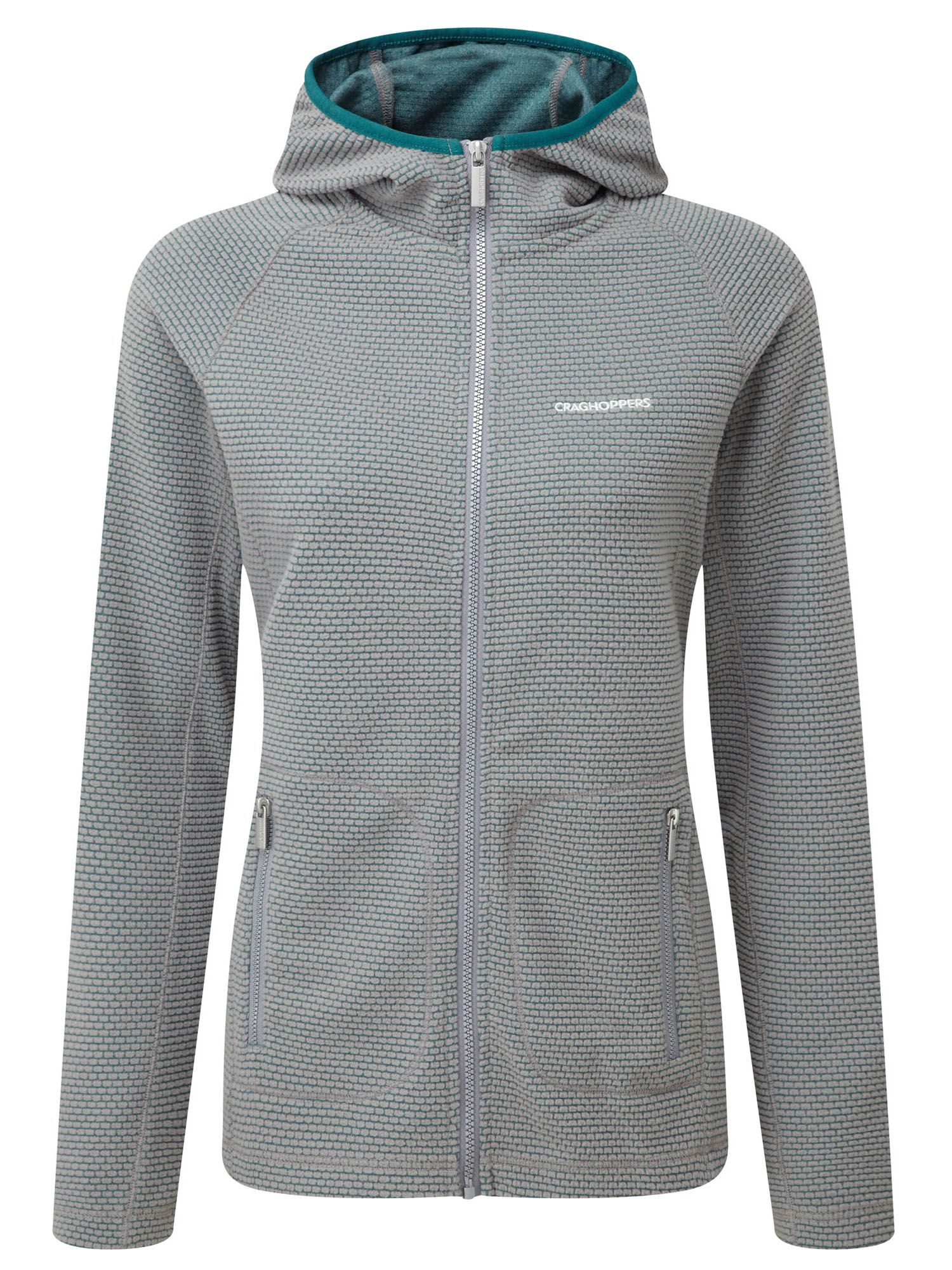 Craghoppers Hazelton Hooded Fleece Jacket, Grey