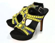 Leather High Heeled Sandal