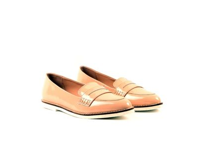 Carlton London Macey flat leather almond toe loafers