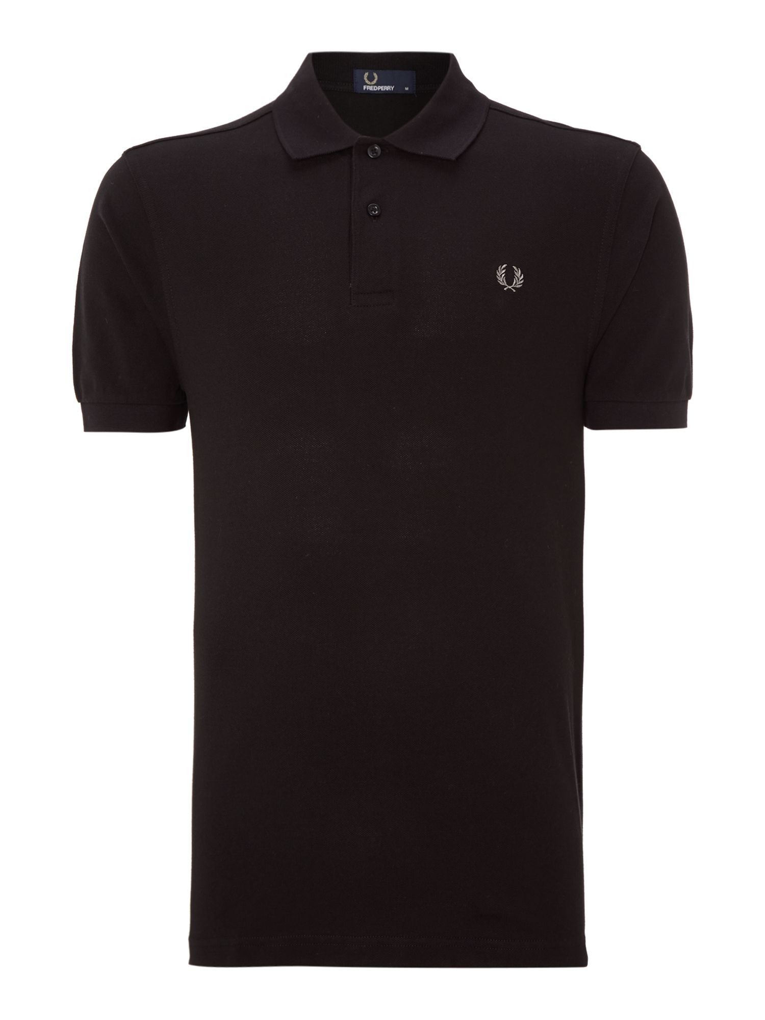 Mens Fred Perry Classic pique polo shirt Black
