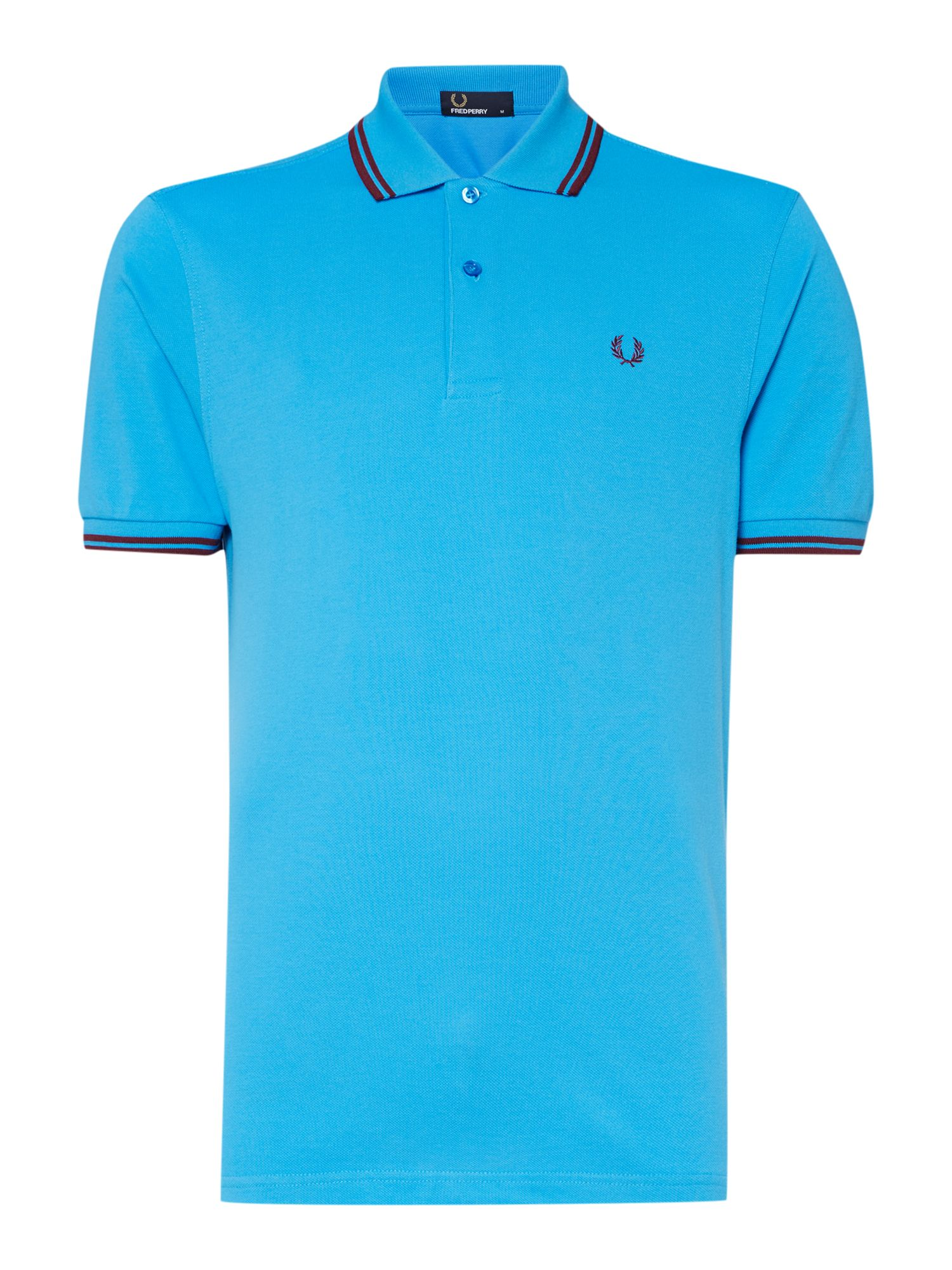 Mens Fred Perry Twin tipped regular fit polo shirt Light Blue