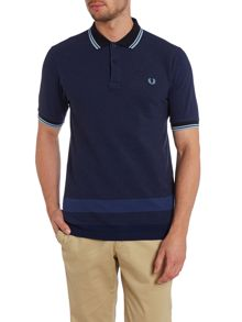 Tipped hem short sleeve pique polo