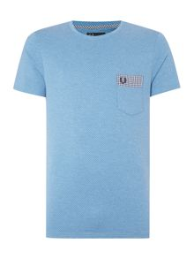 Fred Perry Gingham trim pocket polka dot T-shirt