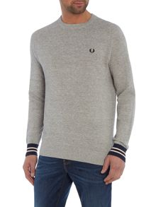 Fred Perry Textured pique crew neck