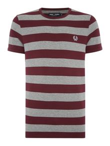 Fred Perry Stripe Crew Neck Regular Fit T-Shirt