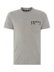 Fred Perry Tartan trim pocket T-Shirt