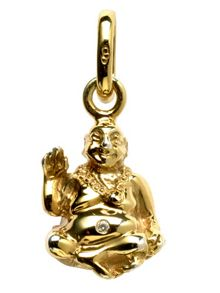 Links of London Laughing Buddha Gold and Diamond Charm
