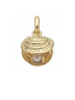 Lucky Catch 18ct Gold & White Pearl Charm