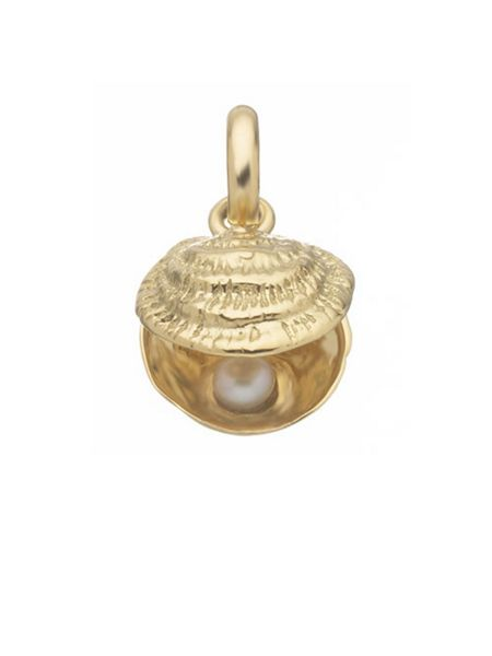 Links of London Lucky Catch 18ct Gold & White Pearl Charm