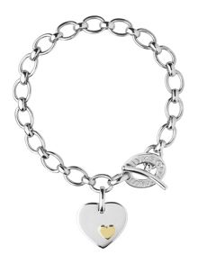Links of London Charm Bracelet Heart Disc