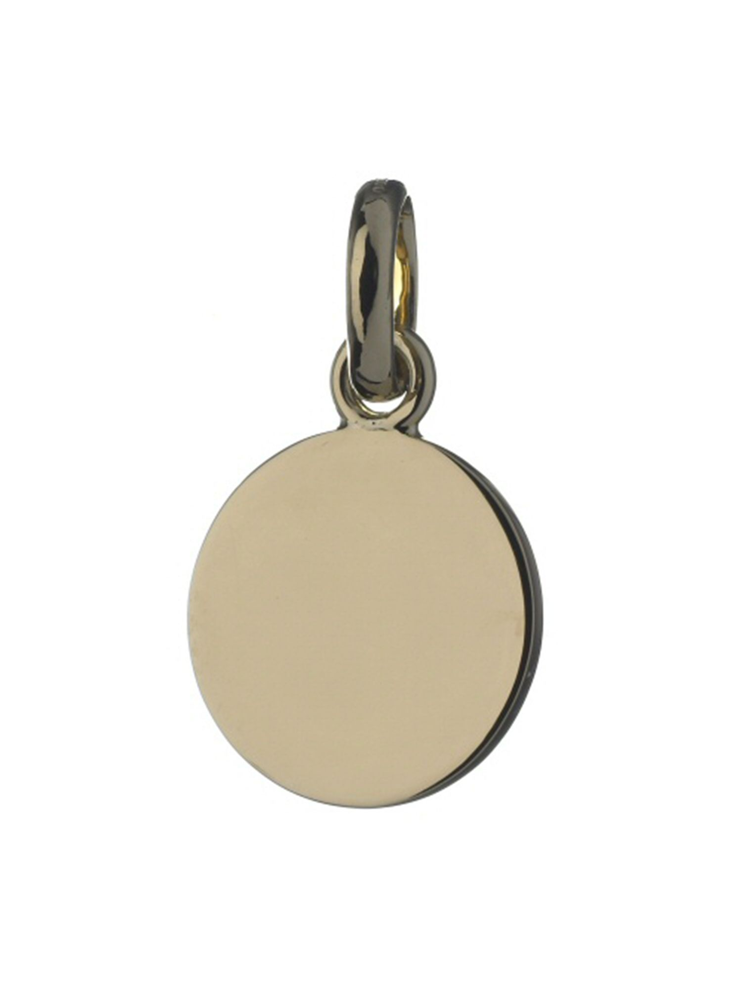 Disc 18ct Gold Charm