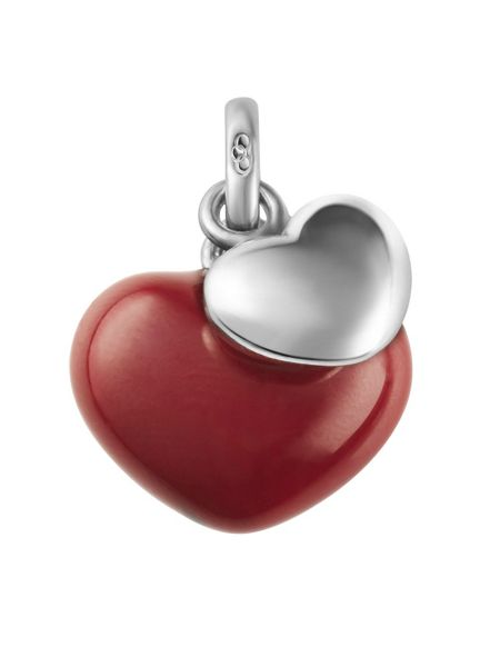 Links of London Two Hearts Charm Red