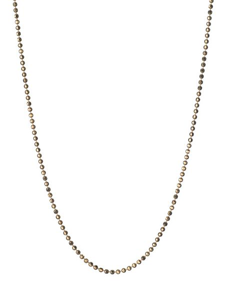 Links of London Facetted Gold Ball Chain 41, 45cm