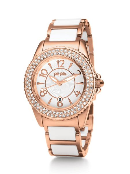 Folli Follie Glow Watch with White Strap