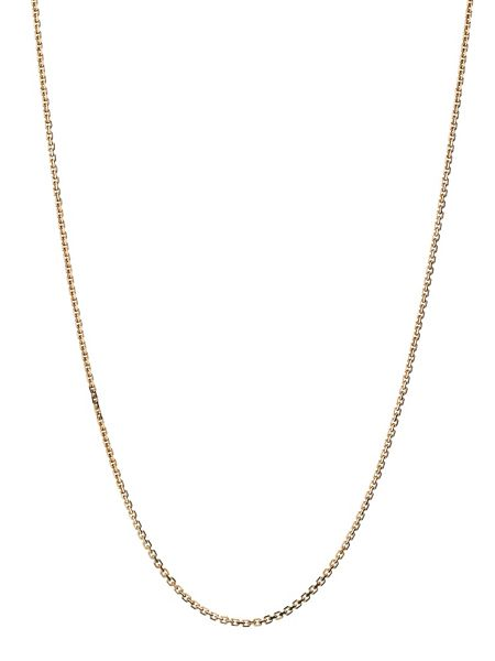 Links of London Cable Chain DC 1mm 18ct Gold 45cm