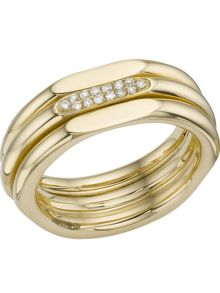 Links of London 20/20 classic 18ct gold & diamond ring