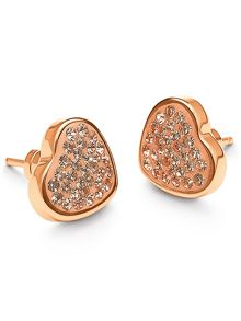 Folli Follie Champagne Bling Chic Stud Earrings