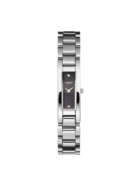 Links of London Selene Black Dial Stainless Steel Watch