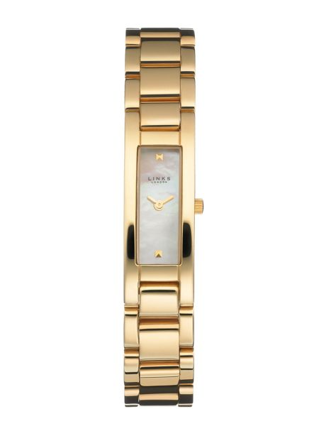 Links of London Selene white dial gold plated watch