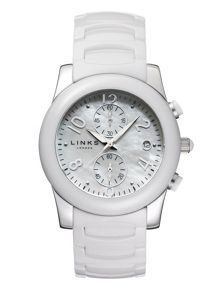 Phoebe white ceramic watch