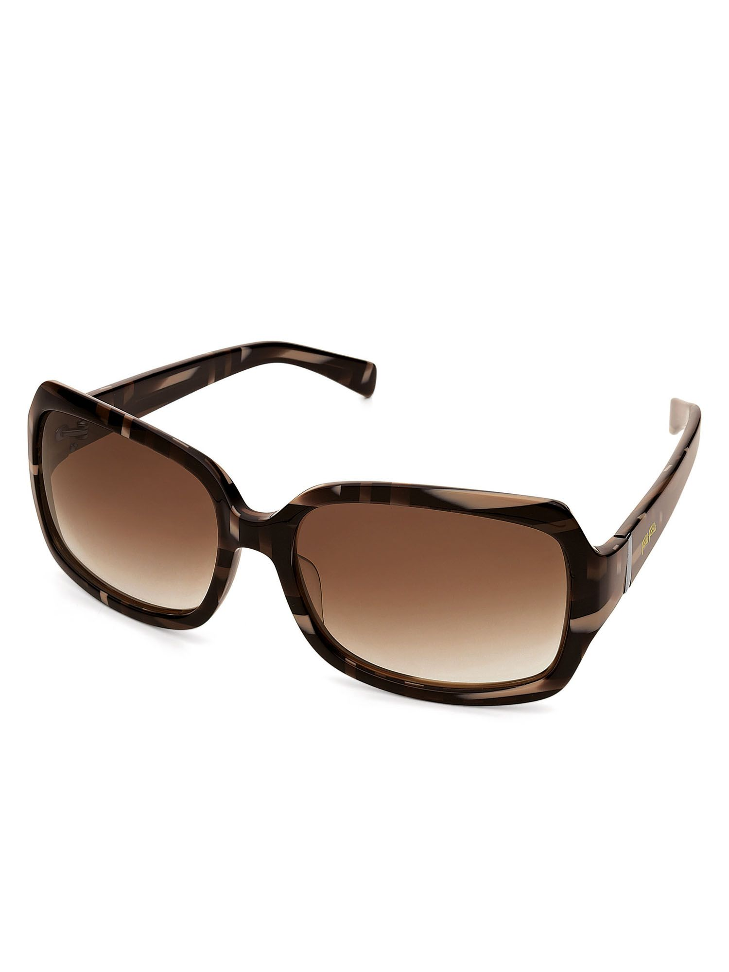 Ladies Brown Rectangle Sunglasses