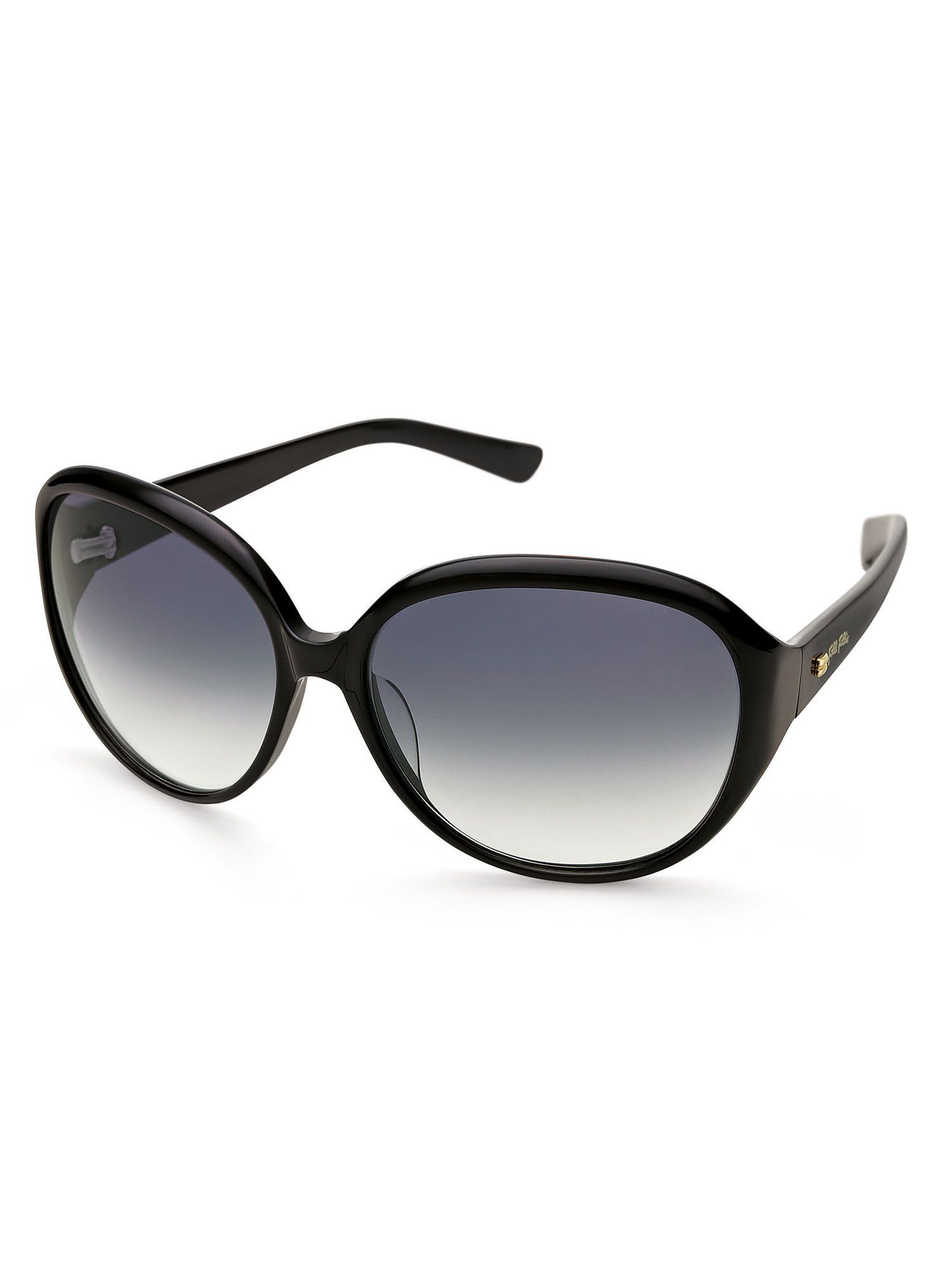 Ladies Black Round Sunglasses