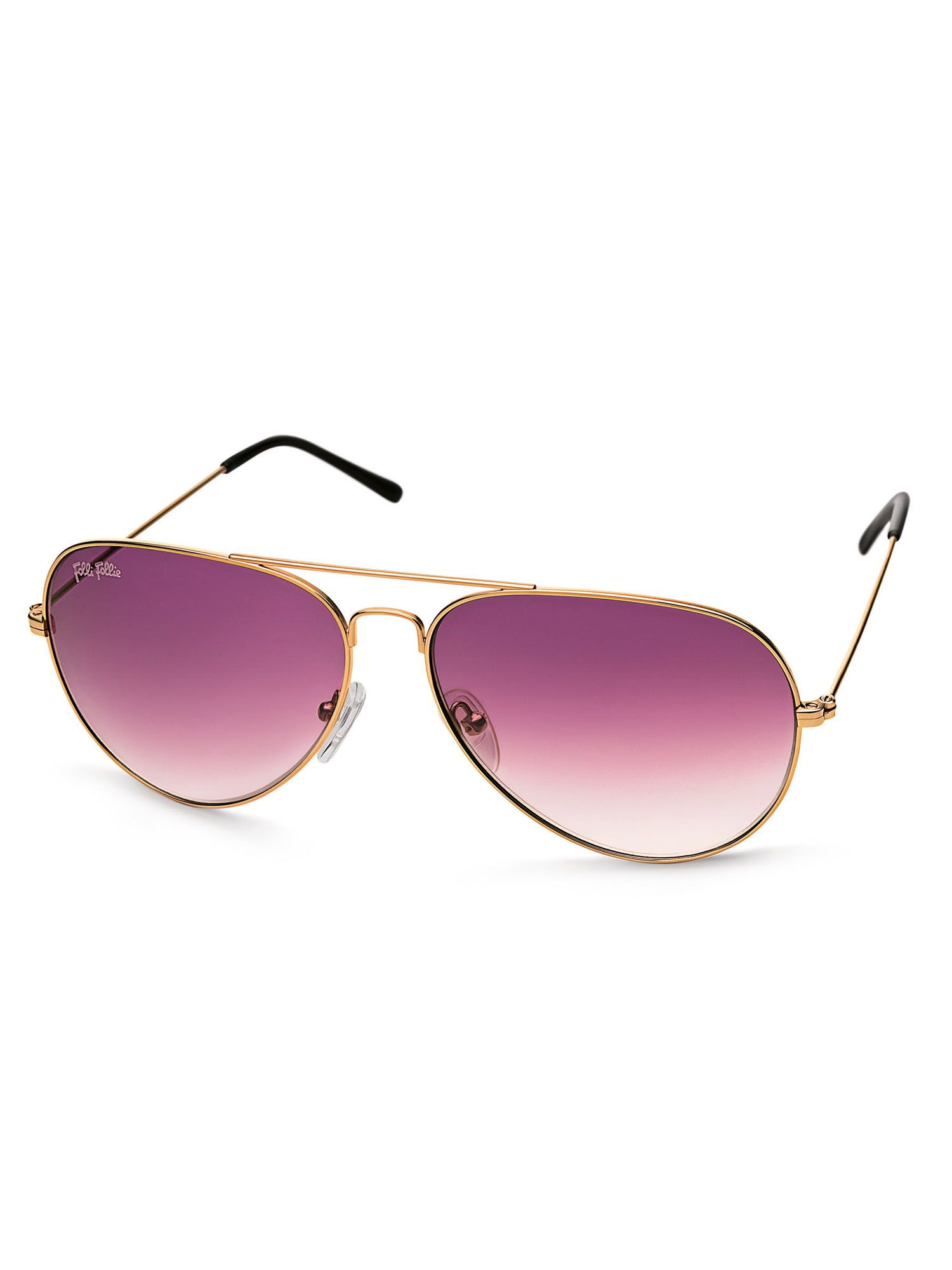 Ladies Purple Lensed Pilot Sunglasses