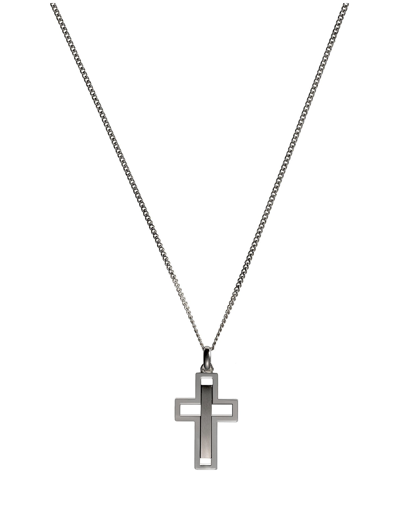 Mens Soho Cross Necklace With Chain
