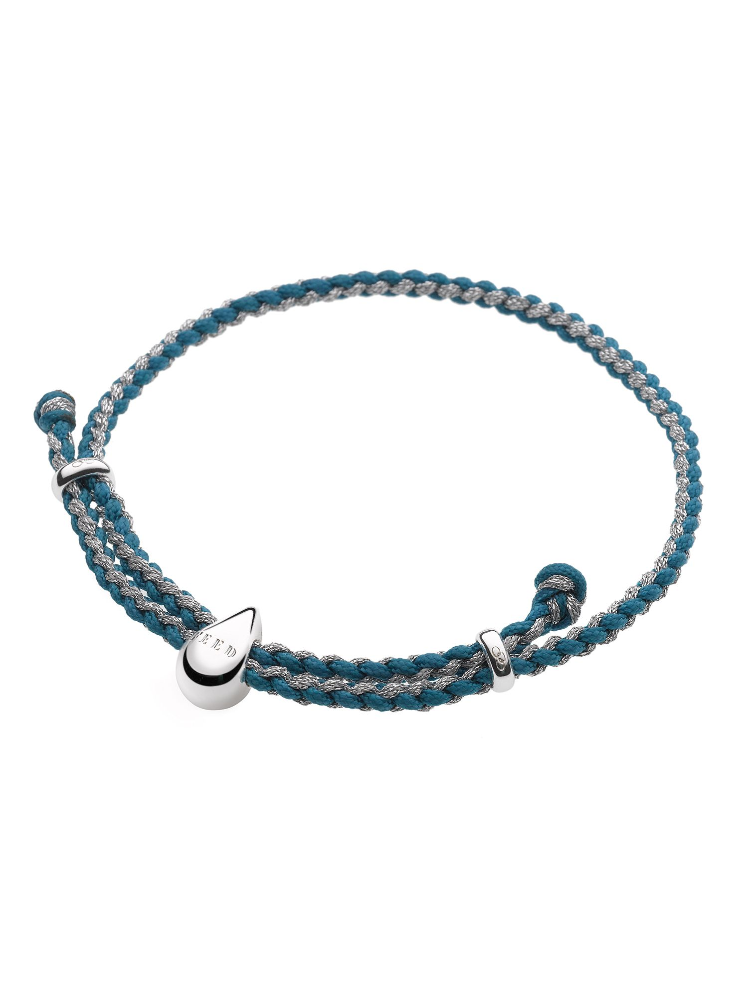 Feed Water Drop Turquoise & Metallic Pewter Cord