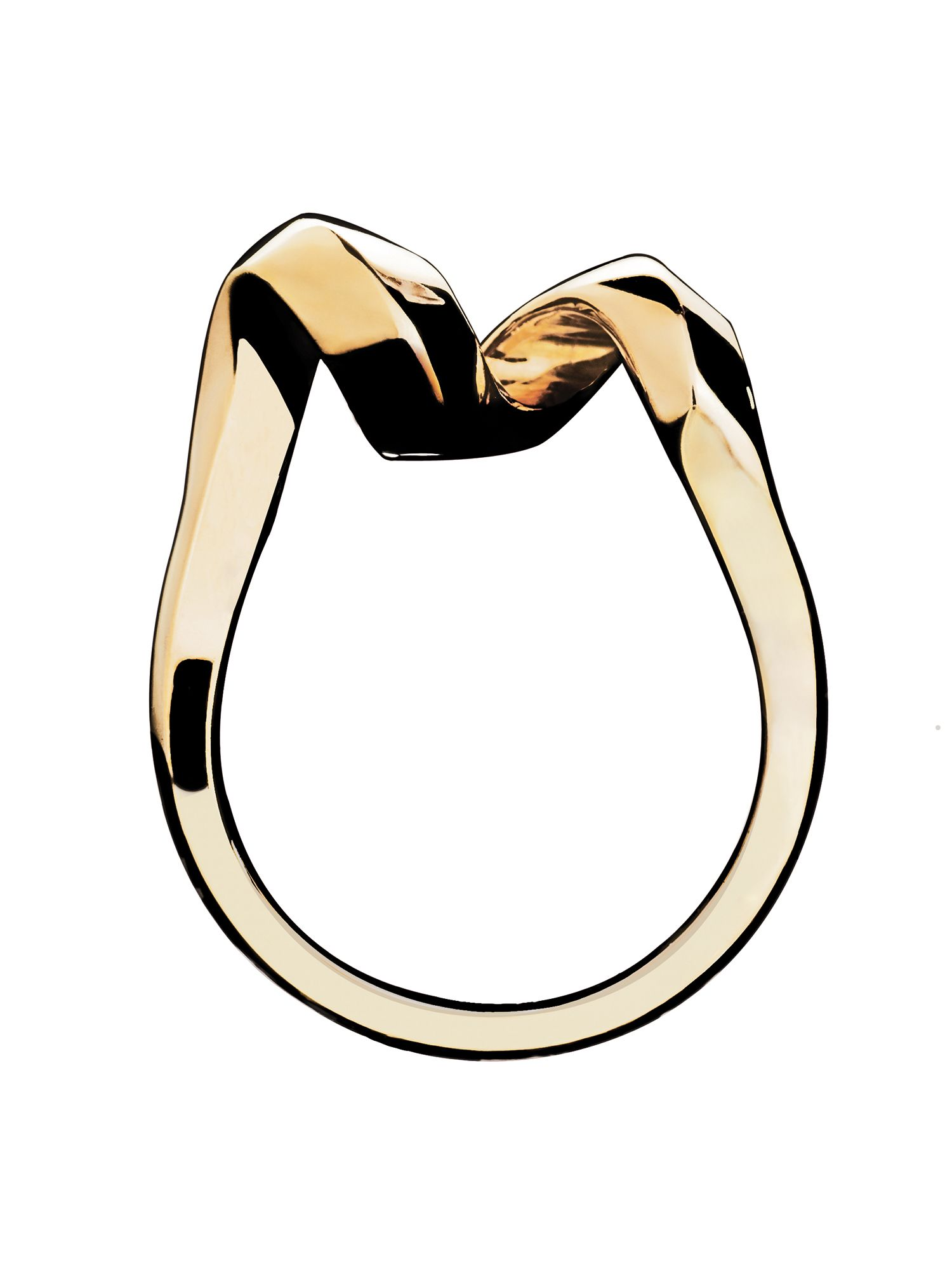 Entwine ring 18ct gold