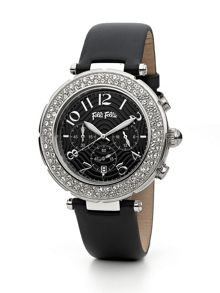 Beautime Watch with Black Leather Strap