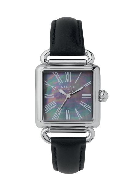 Links of London Driver Black Mother of Pearl Watch
