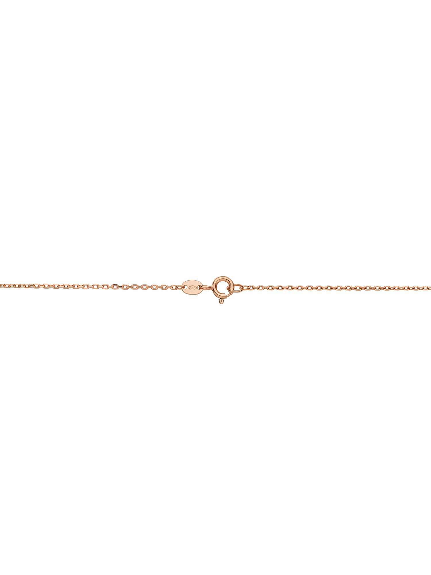 Effervescence bubble tassle 18ct rose gold neckla