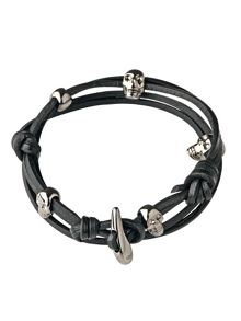 Camden Skull Leather Bracelet