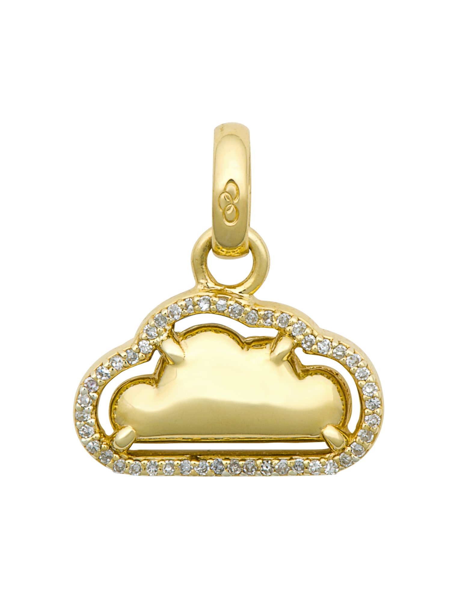 Silver lining 18ct gold & diamond charm