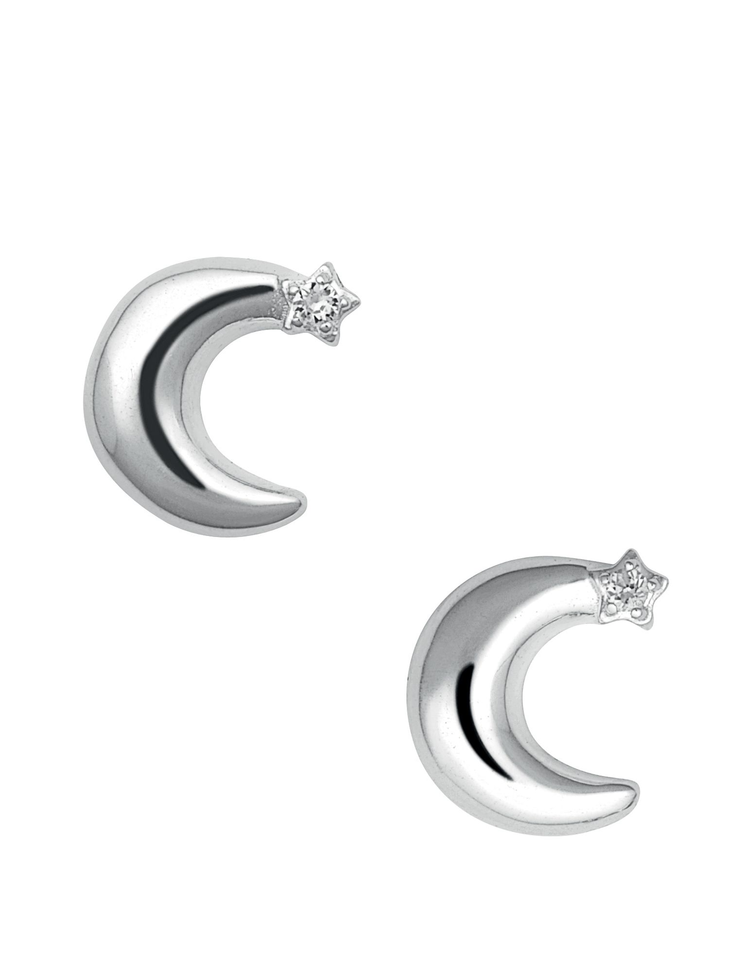 Links of London Over the Moon White Sapphire Stud Earrings