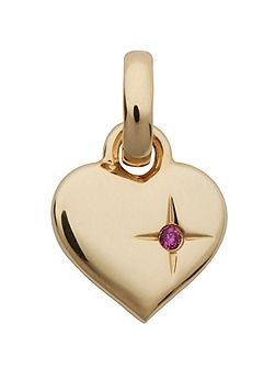 Mini Pink Sparkle 18ct Rose Gold Heart Charm
