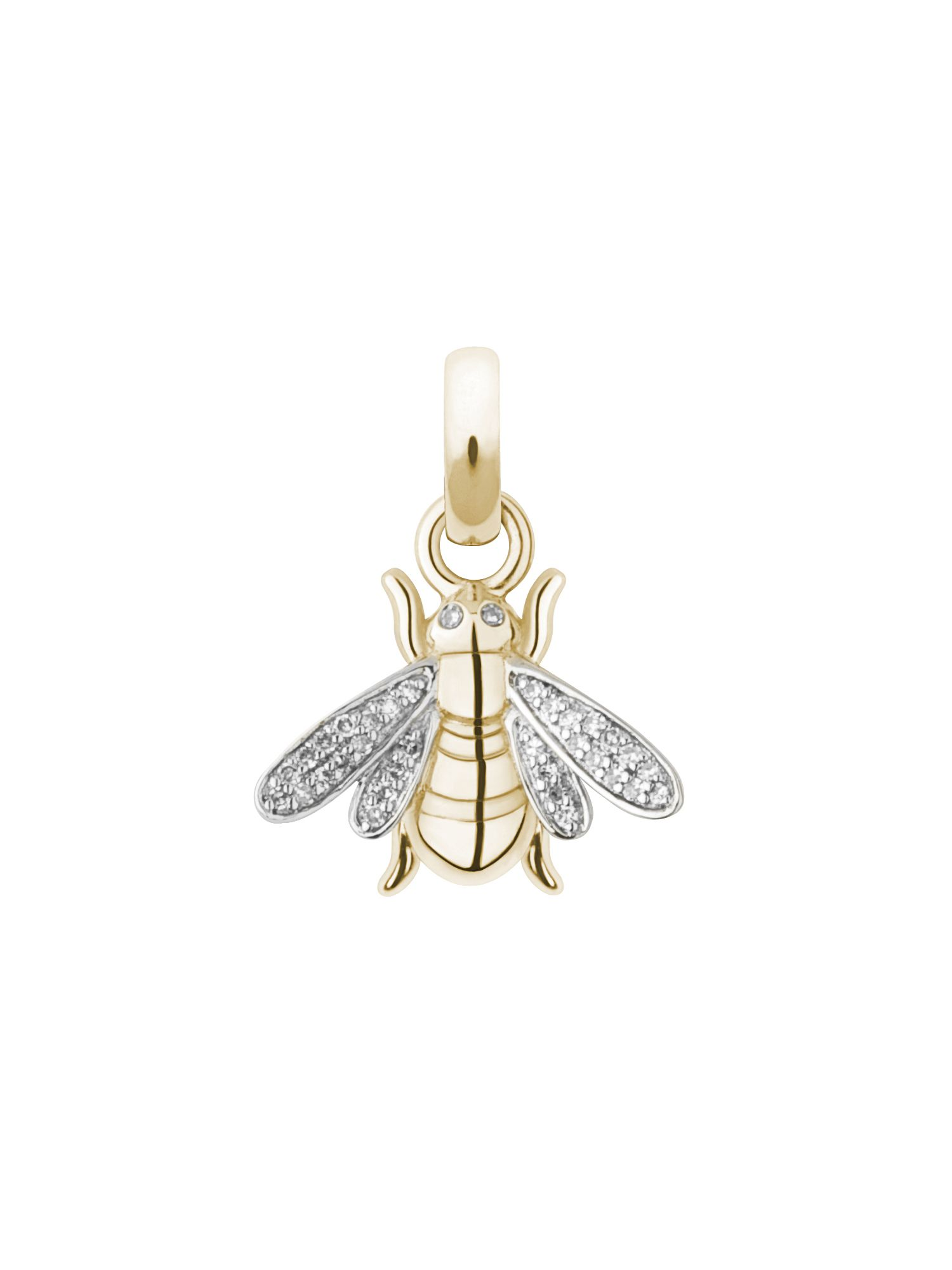 18ct gold & diamond bee charm