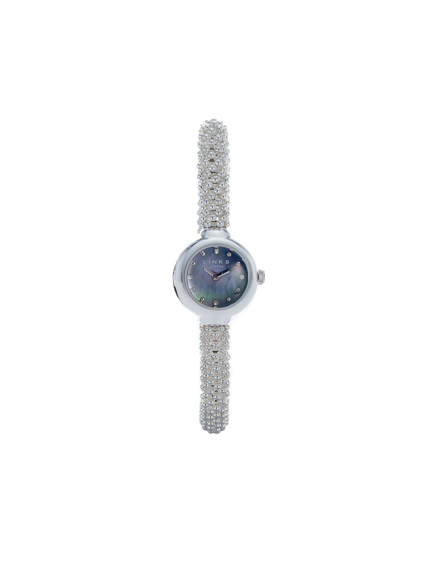 Links of London Effervescence Star Sapphire Watch in Black Black