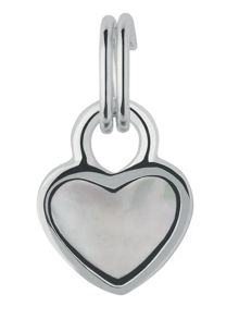 Mini Heart Mother of Pearl Charm