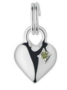 Mini Heart Peridot Charm