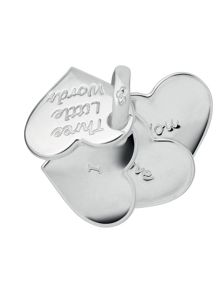 Three Little Words Heart Fan Charm