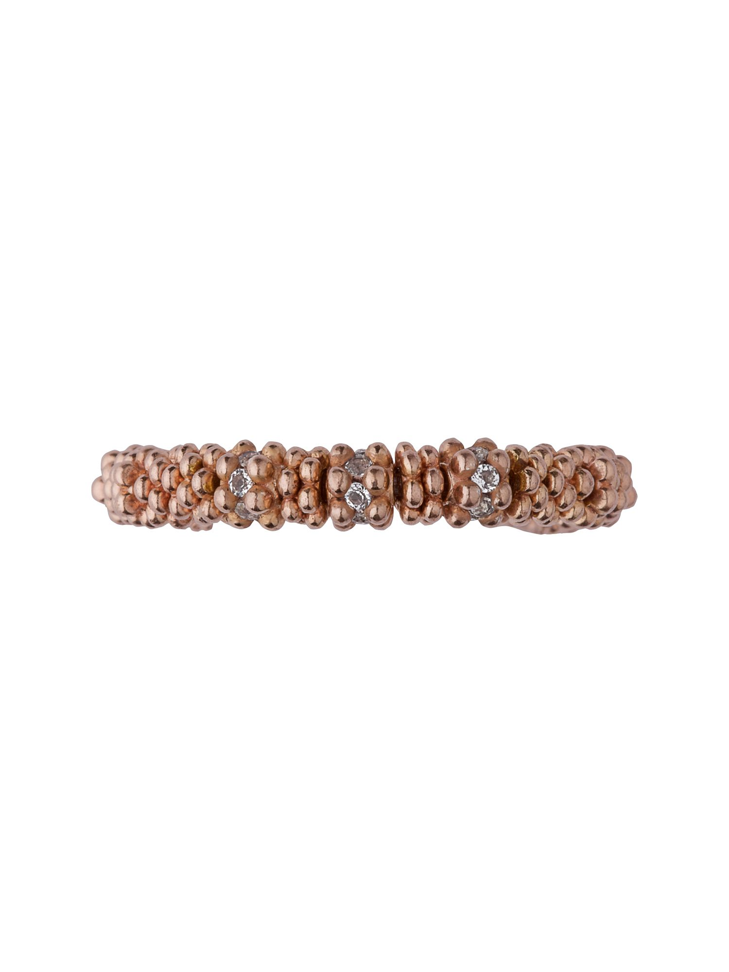 Effervescence star xs ring - rose gold & white to