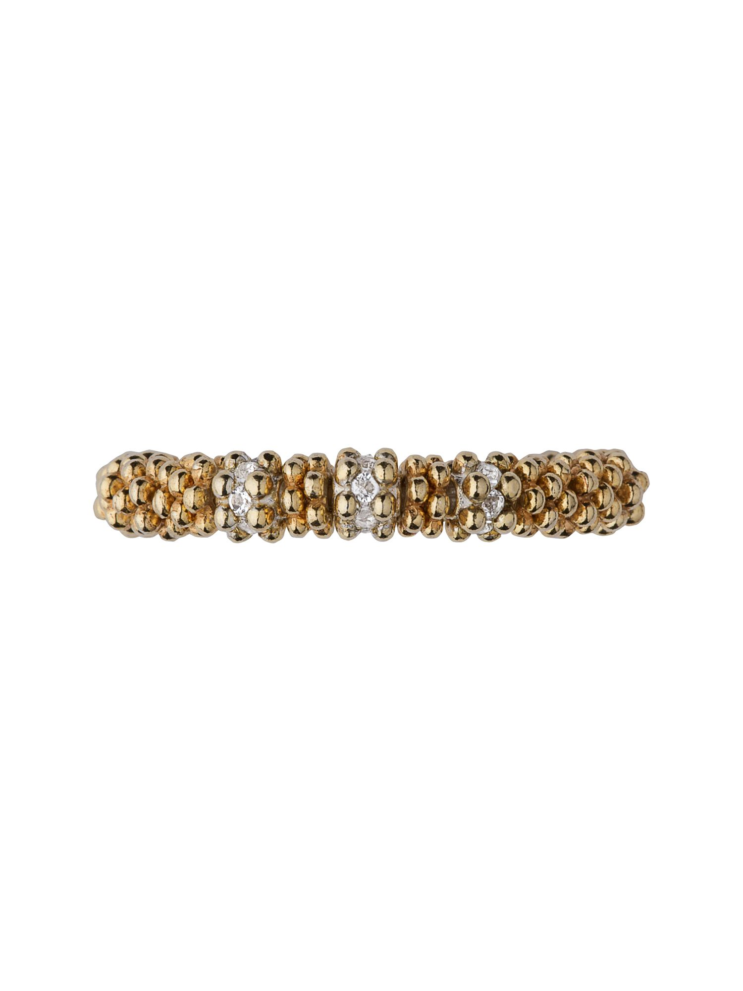 Effervescence star xs ring - yellow gold & white