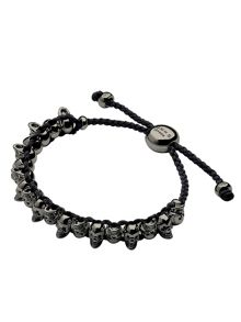 Links of London Black Skull Friendship Bracelet