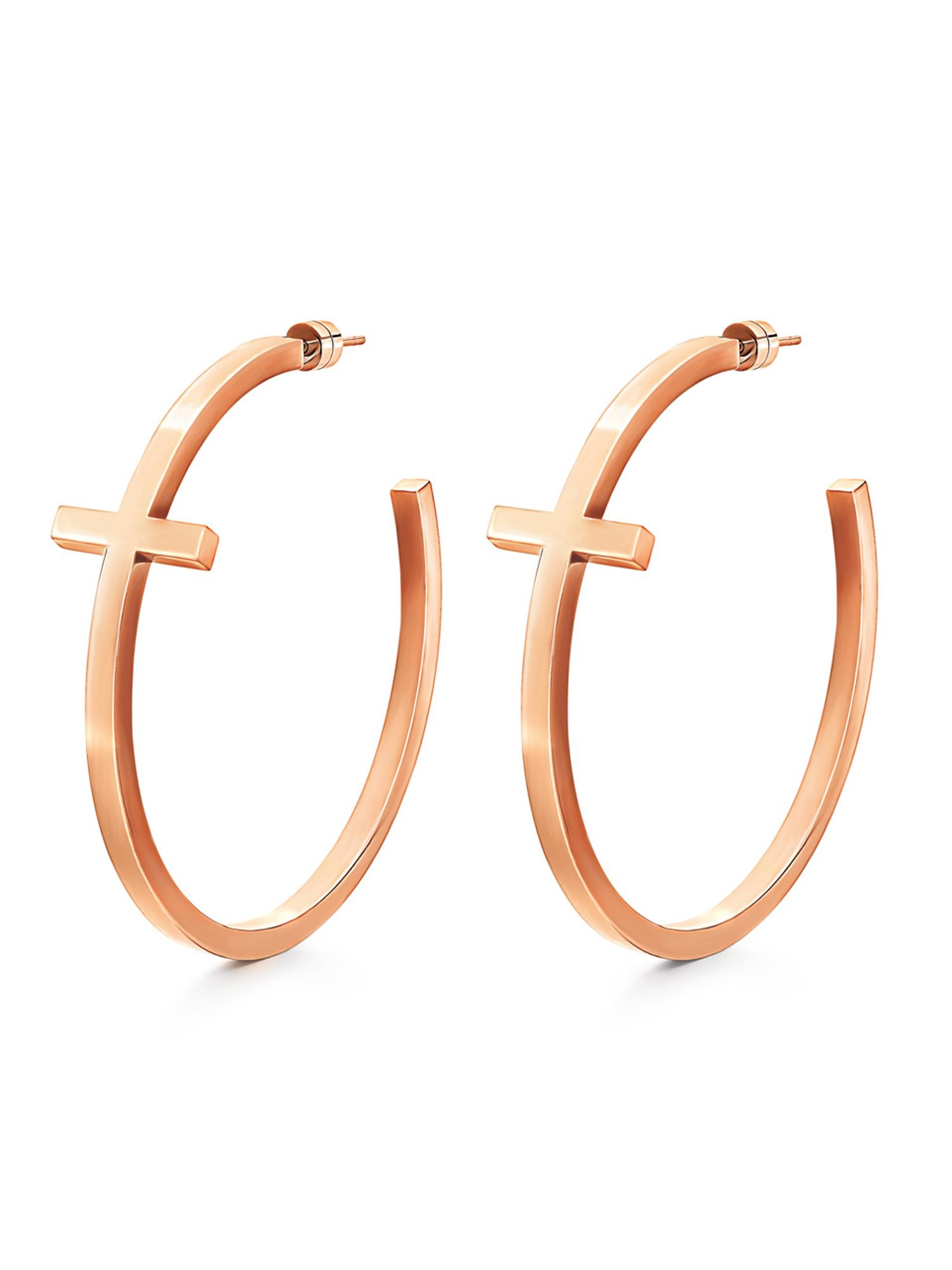 Karma rose gold earrings