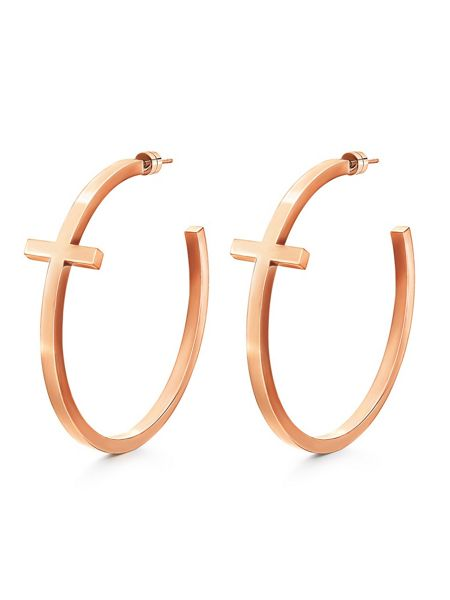Folli Follie Karma rose gold earrings