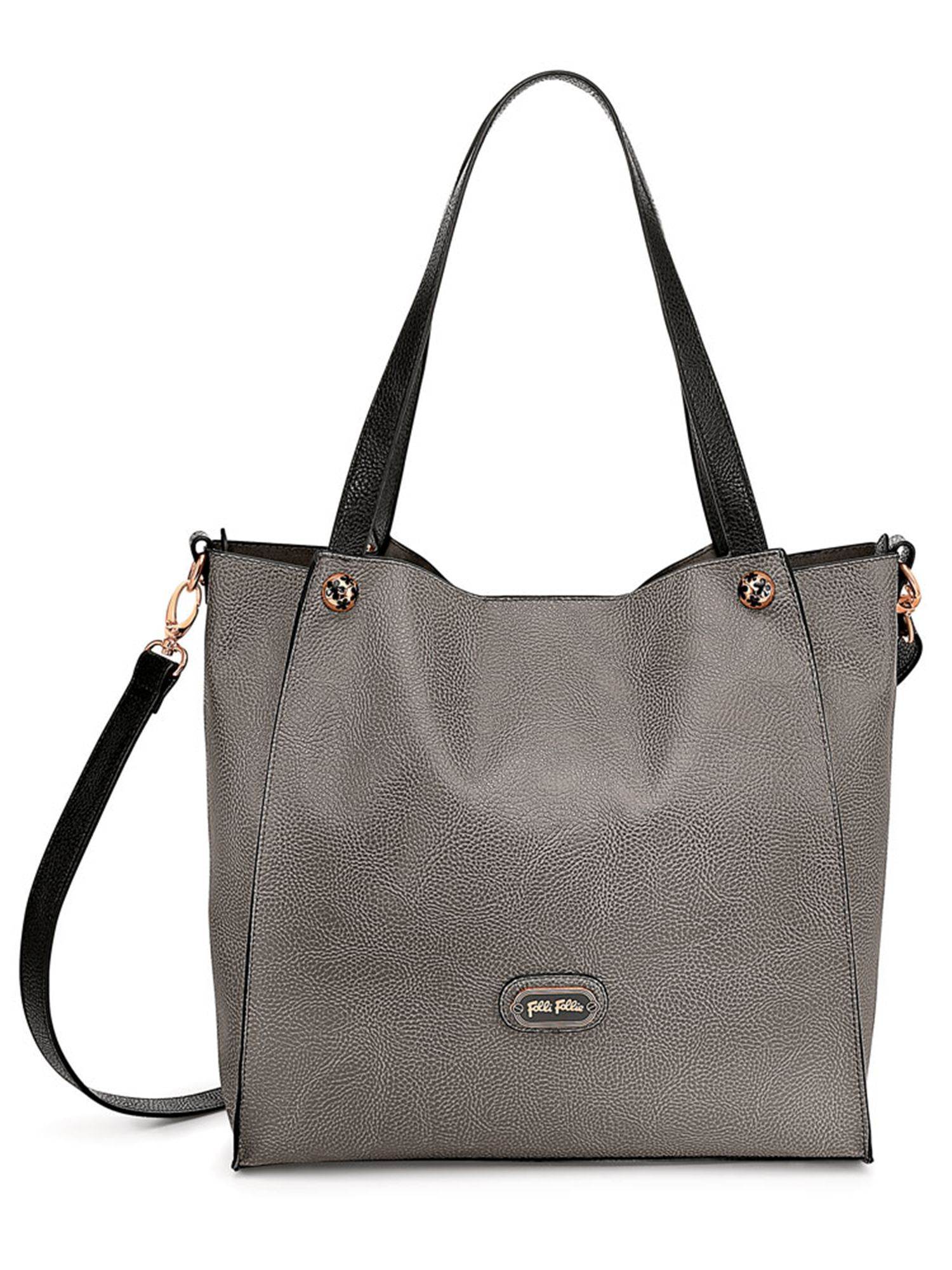 Flowerball shoulder bag warm grey