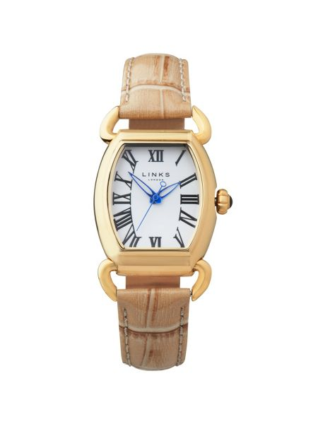 Links of London Driver ellipse tan watch